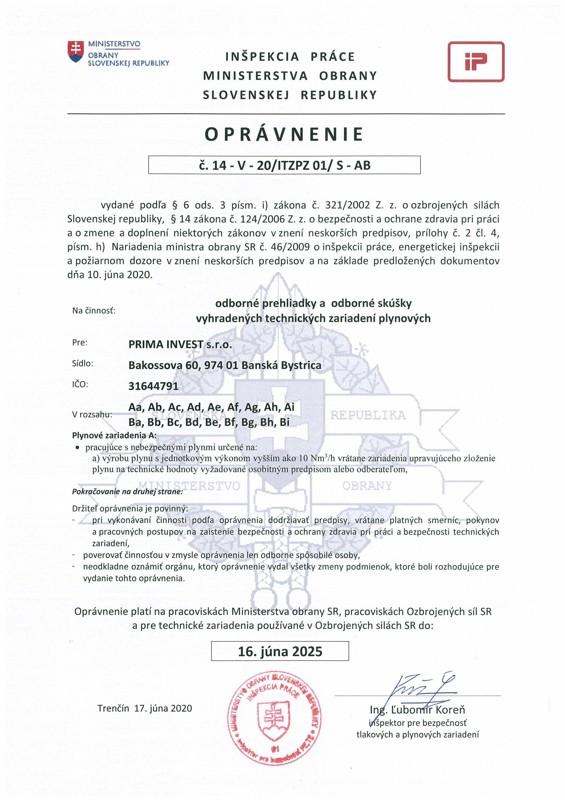 Opravnenie-PRIMA-VZT-plynovych-opravy-2020_strana-1